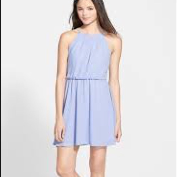 e032debcfacf0 Lush Dresses | Light Blue Chiffon Dress | Poshmark